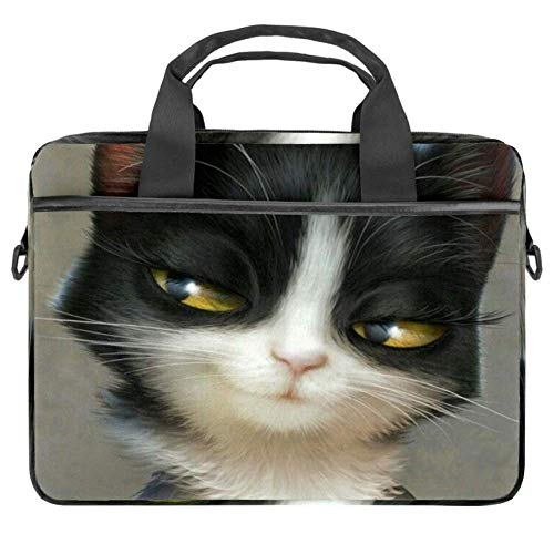 Sly Kitty Laptop Shoulder Bag Sleeve Case 360 Degree Protective Waterproof Laptop Sleeve Case Bag Compatible with 13-14.5 Inch Computer Notebook