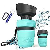 ZONSUSE Botella de Agua para Perro, Botella Portátil de Agua Potable para Mascotas al Aire Libre, Libre de BPA, Prueba de Fugas, para Viajes Aire Libre, Senderismo, Camping, 520ml (Azul Claro)