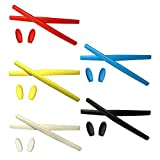 HKUCO Red/Blue/Black/Yellow/White Replacement Silicone Leg Set For Oakley X Metal Series Sunglasses Earsocks Rubber Kit