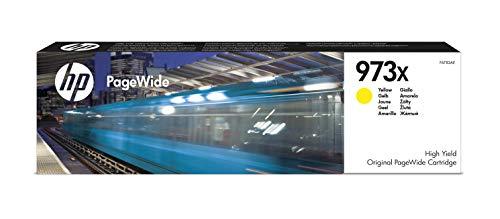 HP 973X F6T83AE, Amarillo, Cartucho de Tinta de Alta Capacidad PageWide Original, de 7.000 páginas, compatible con impresoras de inyección de tinta HP PageWide Pro 452dn, 452dw, 452dwt y MFP 477dw