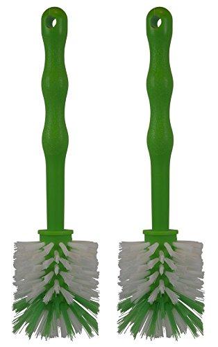 HG Verlag ( 2 Stück im Set ) Mixtopf Spülbürste - ideal zum Reinigen von Mixtöpfen wie z.B. Thermomix TM5 / TM31 sowie Mixtöpfen - ( 2 x Grün )
