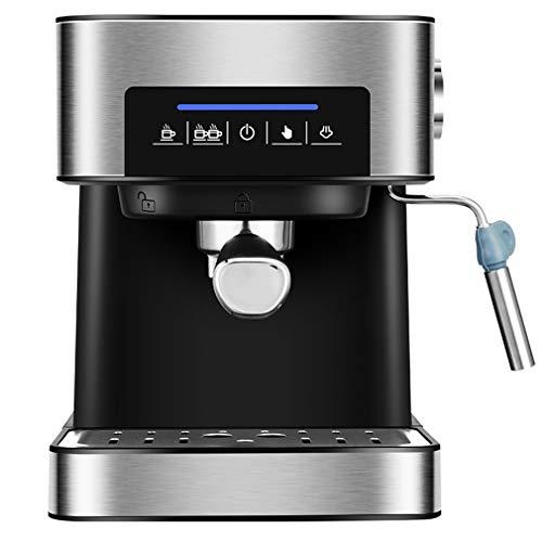 Mzq-yj Espresso Machine 20 Bar Coffee Machine with Foaming Milk Wand, 850W High Performance 1.5L Removable Water Tank Coffee Maker for Espresso, Cappuccino, Latte,Silver