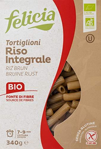 Felicia Tortiglioni Pasta di Riso Integrale - 340 gr