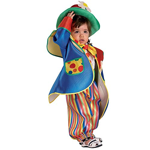 Clown Republic- Petit Clown Fiorello Costume, CS96112/24, Multicolore, 24 Mois