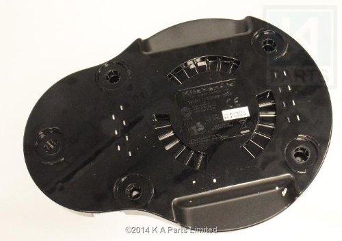 Vervangende basis (zwart plastic) (W10597699) voor KitchenAid 16-cup keukenmachine (modellen vanaf 5KFP1644 en KFP16)