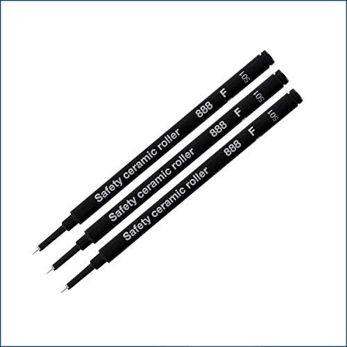 Schmidt 888 Roller Recharges – Lot de 3 – Noir