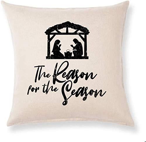 The Reason for The Season - Funda de almohada para decoración de casa de campo