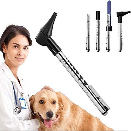Otoscopio Perro Mascota, Gato Otoscopios, Conjuntos De Ámbito Veterinario Del Oído Profesionales...