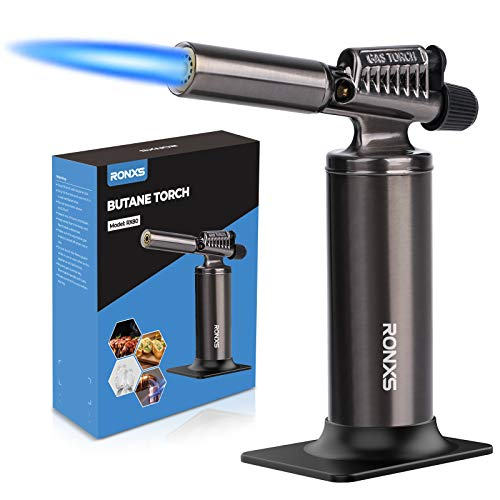 RONXS Butane Torch, Powerful Adjustable Flame Professional Toch Refillable Industrial Torch, Multipurpose Blow Torch Lighter for Soldering Baking Welding DIY Crafts ( Butane Gas Not Included )