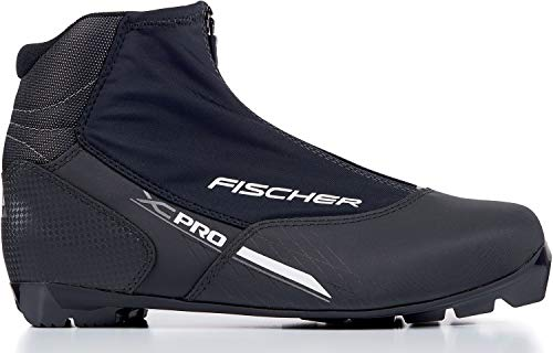 fischer Langlaufschuhe XC Pro, Schwarz/Silber, Gr. 45 Botas de esquí de Fondo (Talla, Unisex Adulto, Negro/Plateado