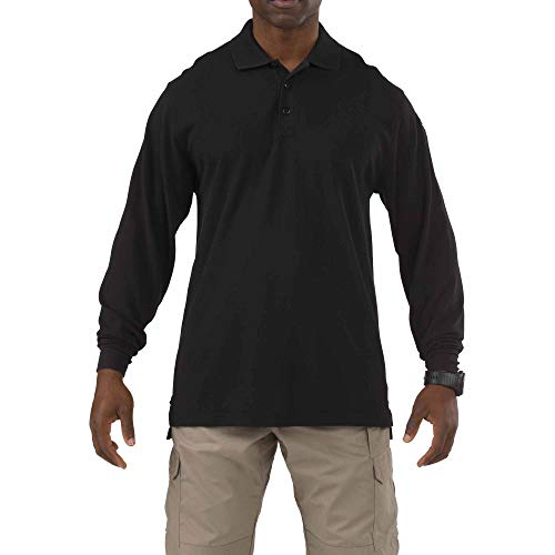 5.11 Tactical Professionnel Polo Manches Longues Homme, Noir, FR (Taille Fabricant : XXL)