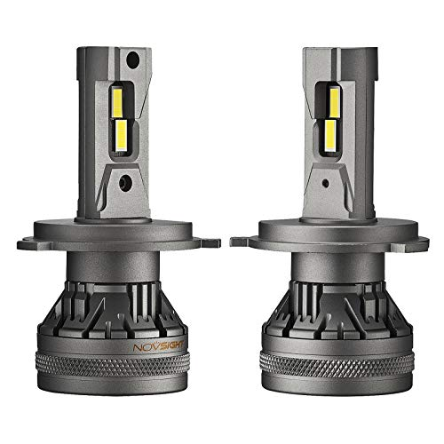 Shiwaki 22000LM conjunto de bombillas LED para coche montaje de 6500K 60W luces delanteras brillantes, vida útil de 100.000 horas - H4