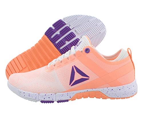 Reebok New Women's R Crossfit Grace TR Training Shoe White/Sunglow/Grape Punch 8