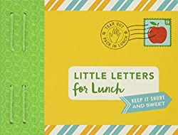lunch note book, little letters for lunch, lunch letters