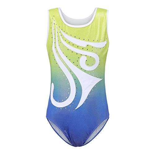 Baywell Niñas Maillot de Gimnasia Leotardos Danza Ballet de sin Mangas para Niña Bowknot Colorido Clásico Leotardos Gimnásticos para Niñas 5-14 Años