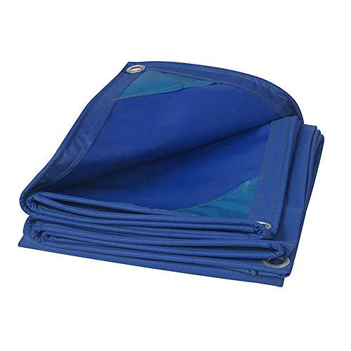 XIAOXIAO Lona De Lluvia Oxford Tarea Pesada Impermeable Sombreado Anti-UV Tienda Al Aire Libre 480 Gramos por Metro Cuadrado Azul (Size : 7M*9M)