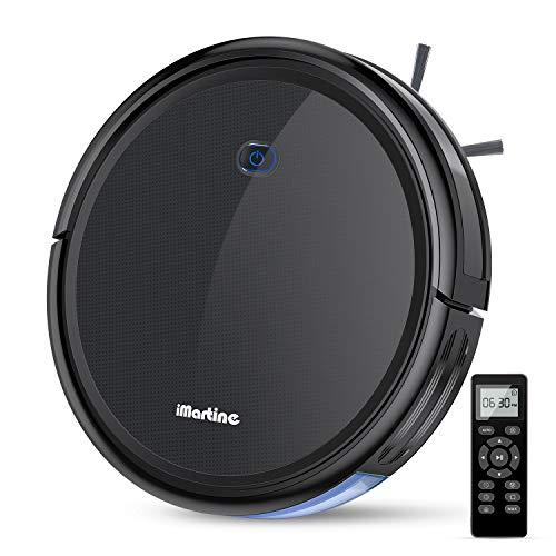 Robot Vacuum Cleaner, iMartine 1600Pa Strong Suction Robotic Vacuum Cleaner, Super-Thin Quiet, Up to 120mins Runtime/Automatic Self-Charging Robot Vacuum for Pet Hair Hard Floor to Medium-Pile