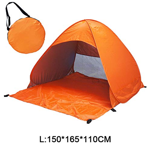 DYGZS tent Beach Tent Pop Up Automatic Open Tent Family Ultralight Folding Tent Tourist Fish Camping Anti-uv Fully Sun Shade Russian Federation L orange WL