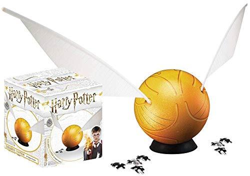 HARRY POTTER Golden Snitch (3D Puzzle 64 Piezas) Puzzle Standard, Plastico,