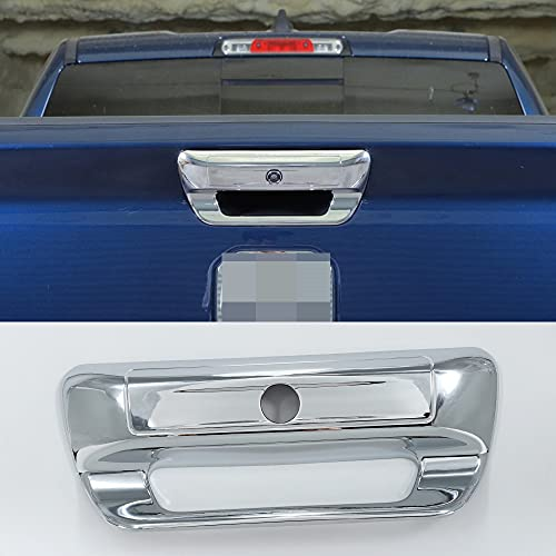 hageza ABS Exterior Rear Door Tailgate Handle Cover Trim for Dodge Ram 2018-2021 Car Decoration Accessories (Chrome)