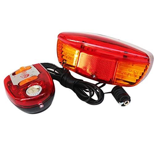 kashyk LED Fahrrad Blinker Richtungs Bremslicht Lampe mit 8 Ton Hupe,LED Wasserdicht Fahrradbeleuchtung,für Fahrrad, Mountainbike, eBike, Rennrad