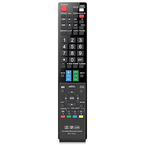 Gvirtue Universal Remote Control Compatible Replacement for Sharp AQUOS Smart TV/ HDTV/ 3D/ LCD/ LED, GB004WJSA GA935WJSA GB004WJSA GJ221-C GB118WJSA