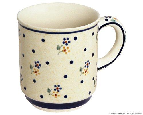 Original Bunzlauer Keramik Becher V=0,25 Liter im Dekor 111