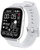 HolaDream Smartwatch , 1.69' Reloj Inteligente Hombre Mujer con Monitor de Sueño, Oxígeno Sanguíneo(SpO2) Pulsómetro, Pulsera Actividad Inteligente Impermeable IP68 Reloj Deportivo para Android iOS