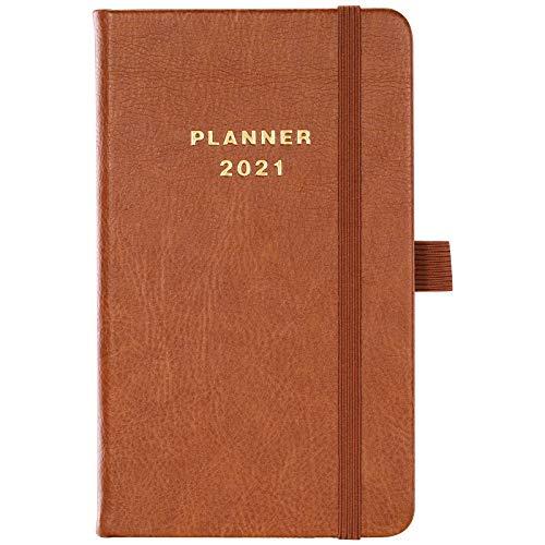 Agenda Settimanali 2021, Diario Settimana A6 da Gennaio 2021 a Dicembre 2021, Tasca interna pianificatore tascabile