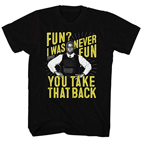 GGFH Brooklyn Nine-Nine Sitcom Comedy TV Series Never Fun Men T-ShirtBlackS