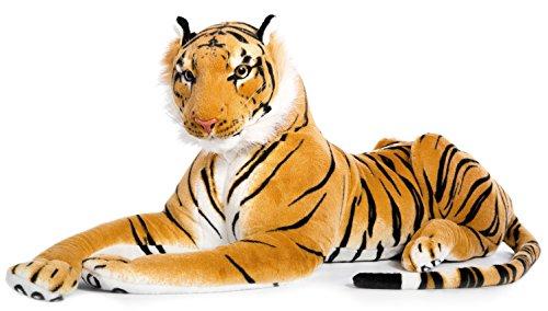 Wagner Plüschtier Tiger - liegend - braun - 90 cm