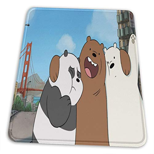 We Bare Bears Mouse Pad Vertical Non-Slip Rubber Base Mouse Pads for Computers Laptop Office Desk 8.3 X 10.3 in