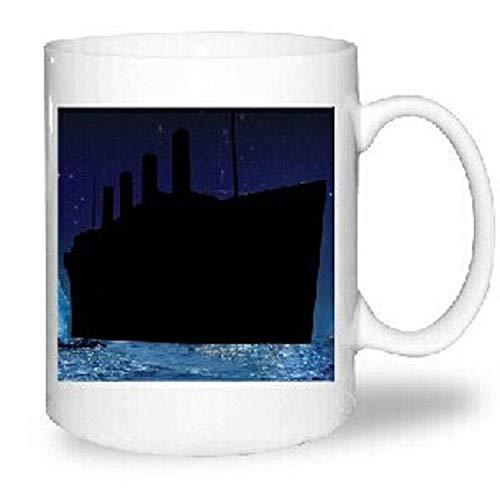 yylikehome Keramische thermochrome Kaffeetasse Titanic Farbwechsel Tasse süßes Muster Tasse kreative thermische Farbe Becher Persönlichkeit Keramik Tasse