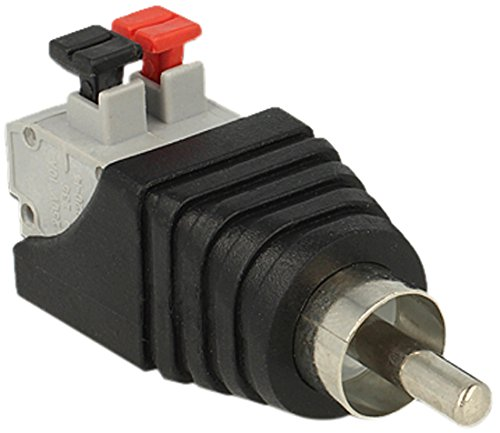 Delock 65566  Adapter Terminalblock mit Drucktaste > Cinch Stecker
