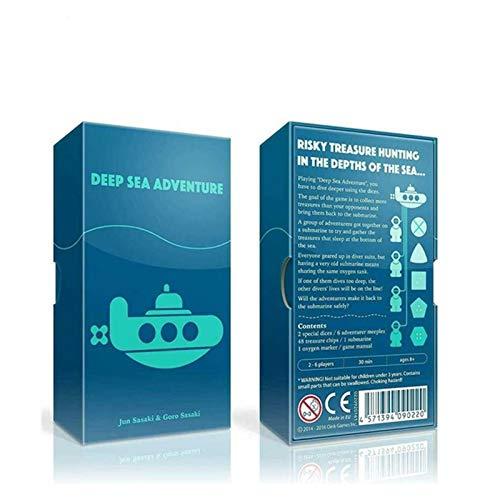 RWX Juego De Mesa De Aventuras De Sea De Deep, Juego De Mesa De Rompecabezas Multijugador, Juego De Entretenimiento Familiar, Juego De Cartas para Niños