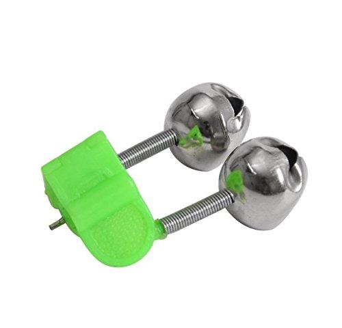 HCFKJ 10 Stück Angeln Bissanzeiger Angelrute Stalk Bell Clamp Tipp ABS Angeln Zubehör