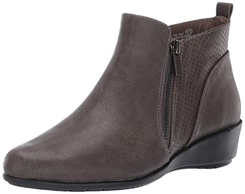 Aerosoles Women's All The Way Ankle Boot, Grey Combo, 7.5 W US