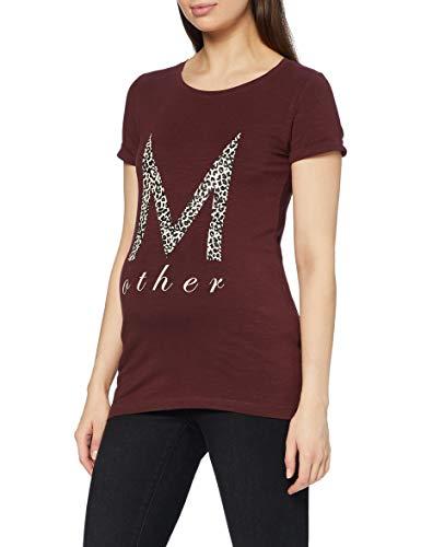 MAMALICIOUS Damen Mldoreen S/S Jersey Top A. T Shirt, Braun, S EU