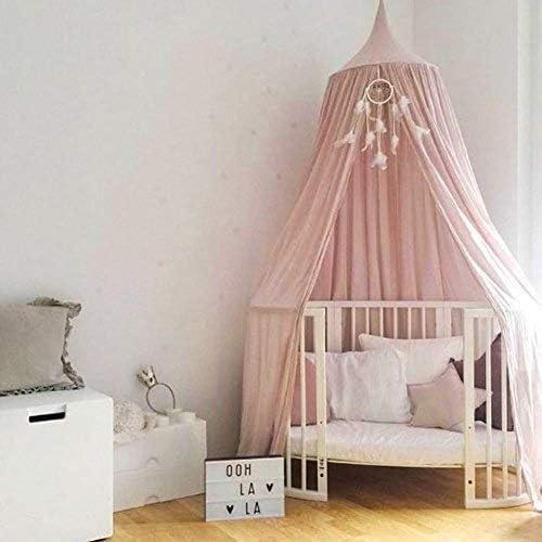 f/ür Kinderbett Dekoration Kinderzimmer Prinzessinnen-Design rund kuppelf/örmig Kinderbett-/Überdachung