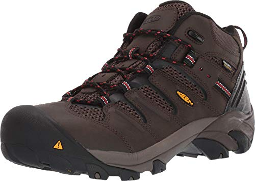 KEEN Utility Men's Lansing Mid Steel Toe Waterproof Work Boot Construction, Cascade Brown/Shiitake, 10.5 D (Medium) US