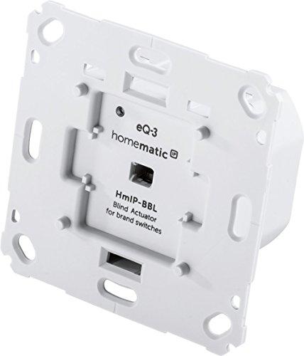 Homematic IP Smart Home Jalousieaktor für Markenschalter,  intelligente Steuerung von Jalousien, Raffstores, Rollläden und Markisen, auch per kostenloser App, 151333A0