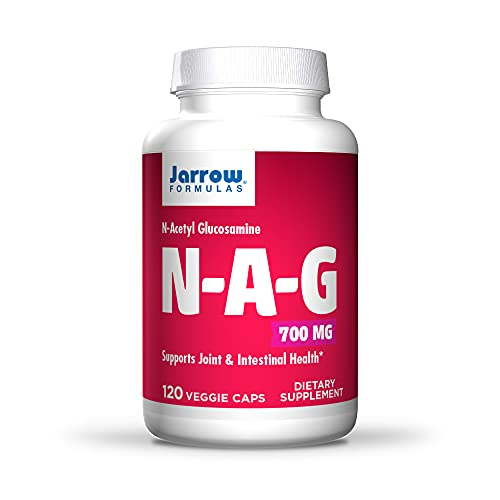 Jarrow Formulas N-A-G 700 mg - 120 Veggie Caps - N-Acetyl Glucosamine - Versatile Form of Glucosamine - Supports Joint & Intestinal Health - Up to 120 Servings