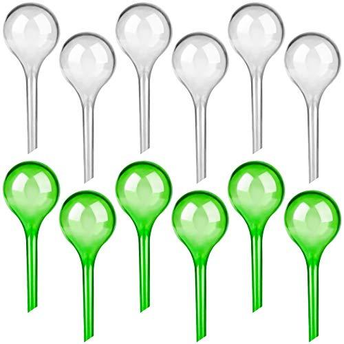 LOCOLO 12 Stück Kleine Gießkugeln - 13x5cm Pflanzen Bewässerungskugeln Topfpflanzen Selbstbewässerung PVC Bewässerung-Kugeln Wasserspender für Pflanzen