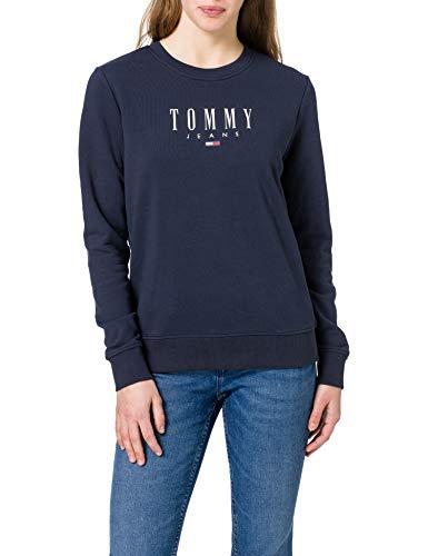 Tommy Jeans Women's TJW Regular Essential Logo Sweater, Twilight Navy, S
