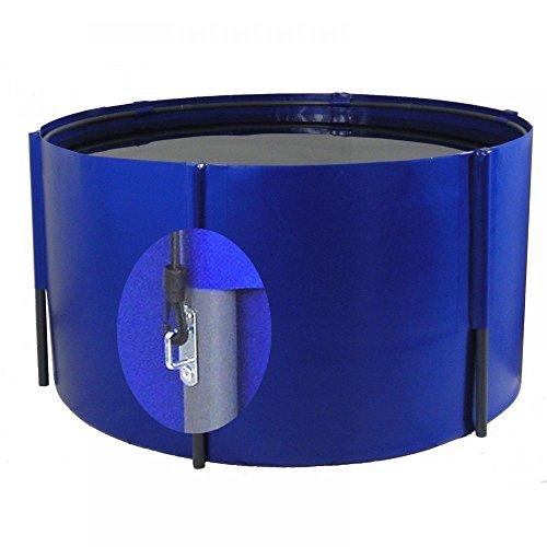 Pliable Bac 250 x 100 cm, 4900 L, bleu, avec œillets, filet koibecken