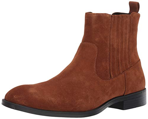 Calvin Klein Men's CLIFF Chelsea Boot, Tan Suede, 9 UK