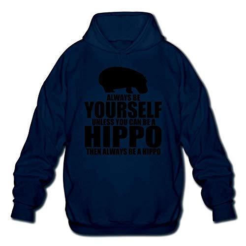 Chansy Always Be Yourself Hippo Big - Sudadera con capucha para hombre