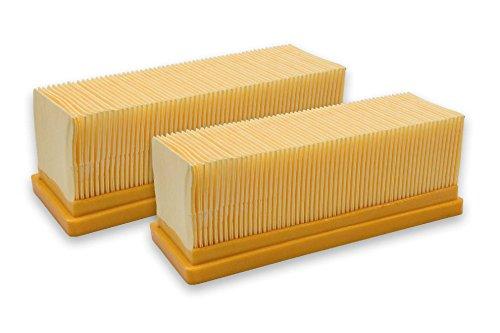 vhbw 2x Flachfaltenfilter Filter passend für Staubsauger Saugroboter Mehrzwecksauger Kärcher SE 5.100, SE 6.100 plus