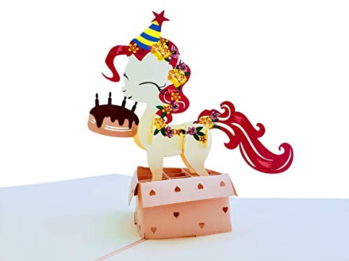 iGifts And Cards Cute Little Pony Birthday 3D Pop Up Greeting Card - Awesome, Happy, Congrats, Unique, Celebration, Feliz Cumpleaños, Fun, Lovable