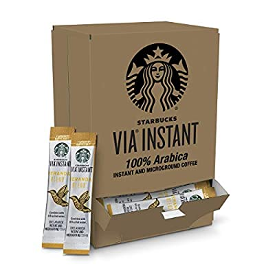 Starbucks VIA Instant Coffee Blonde Roast Packets — Veranda Blend — 1 box (50 packets)